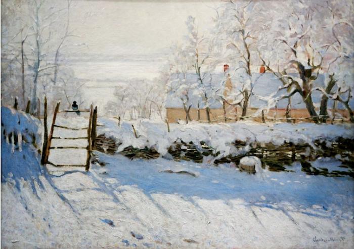 Claude Monet, La Pie (1868-9)