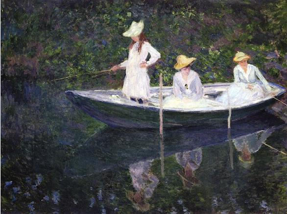 Claude Monet, La Barque à Giverny (1887)