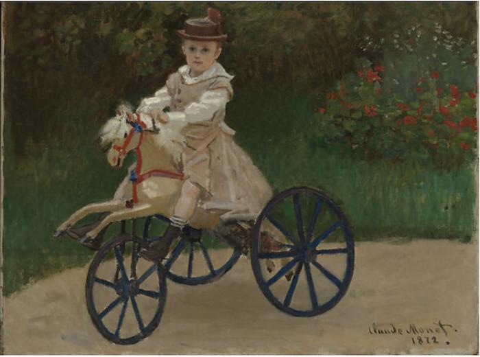 Claude Monet, Jean Monet on His Hobby Horse (1872)